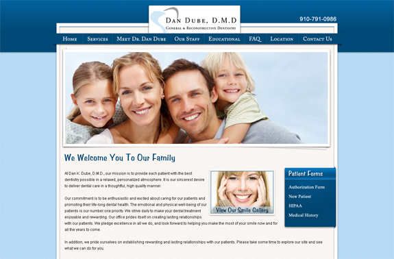 Wilmington NC Web Design & SEO for Dentists
