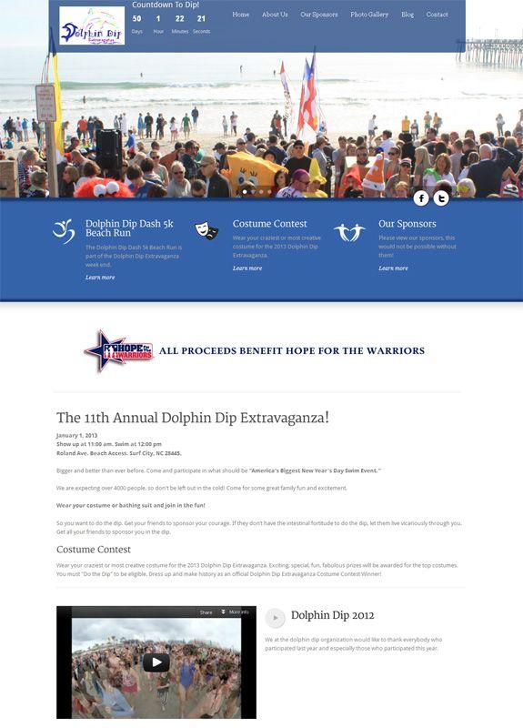 Non Profit Web Design | Dolphin Dip