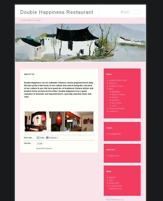 Old Restaurant Web Design