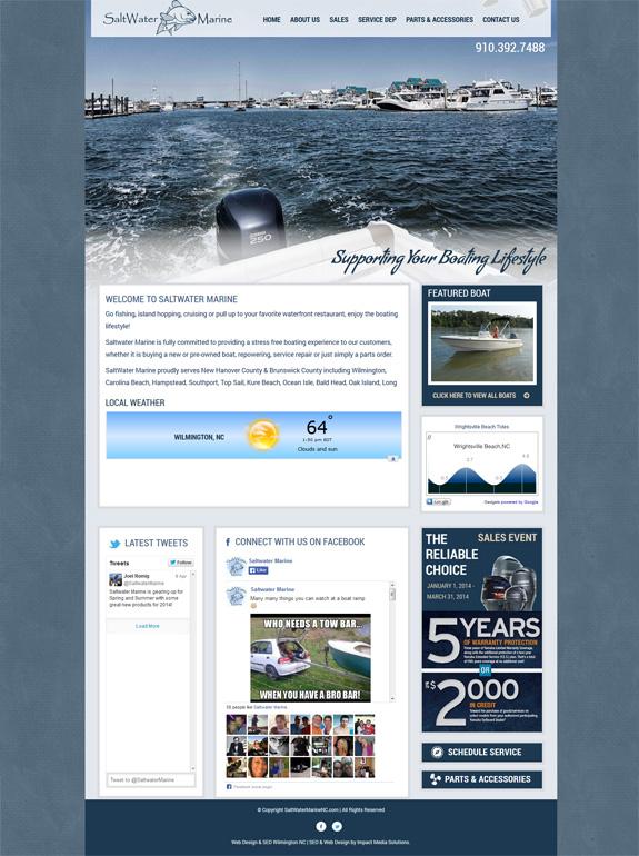 Boat Dealership Web Design