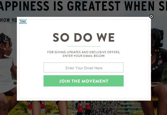 Website Email Subscriber Pop-Up