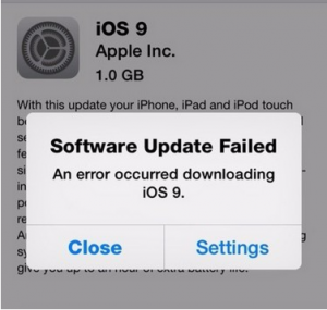 iOS 9 - Download Failed