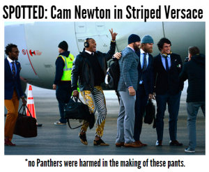 Cam Newton's Versace Pants